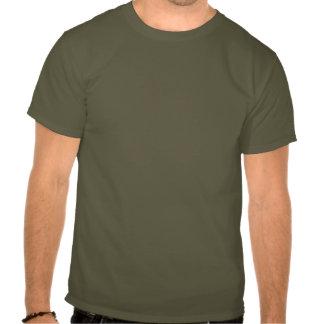 Camiseta oscura básica para hombre del verde llano