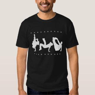Camiseta (oscura) de la danza de rotura del playeras