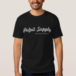 Camiseta oscura de la fuente del púlpito playera