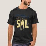 Camiseta oscura de SHL con el URL