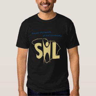 Camiseta oscura de SHL con el URL Playeras