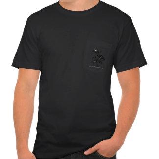 Camiseta oscura del logotipo de la fluorescencia poleras