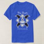 Camiseta oscura delantera del Troth B&W por Poleras