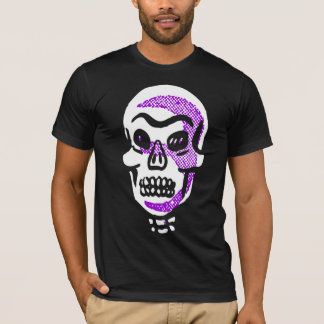 Camiseta oscura fresca del cráneo