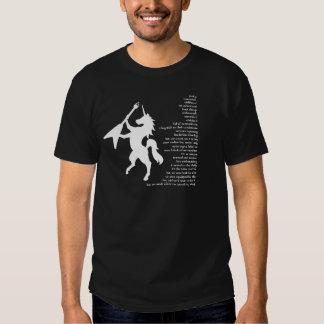 "Camiseta oscura lírica del ""unicornio"" playeras"