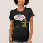 Camiseta oscura para mujer del Merman/del micrófon