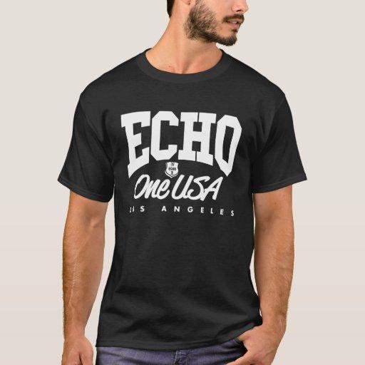 Camiseta oscura torcida de Echo1USA