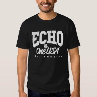 Camiseta oscura torcida de Echo1USA Playeras