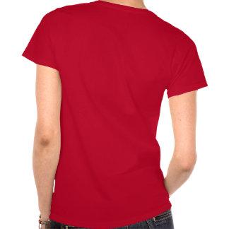 Camiseta oscura tórrida de la esposa del arma nucl