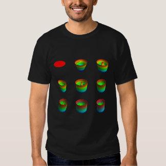 Camiseta, oscuridad, invariants rotatorios poleras