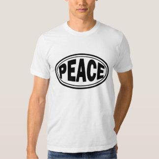 Camiseta oval de la paz hecha en los E.E.U.U. Polera