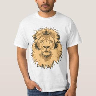 Camiseta oxidada del valor de la cabeza del león playera