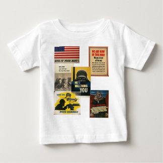 Camiseta pacifista del bebé