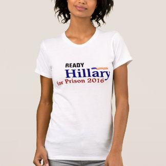 Camiseta para arriba. Hillary para la prisión 2016 Polera