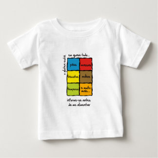 Camiseta para Bebes: Alerta para Glúten Tees