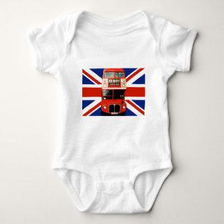 Camiseta para el bebé con el autobús de Londres Camisas