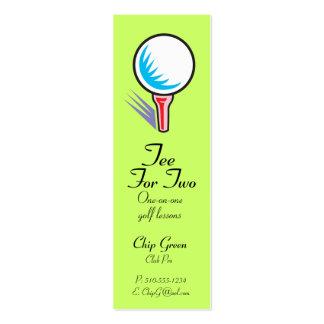 Camiseta para el instructor de Two_Golf Tarjetas De Visita