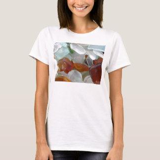 Camiseta para ella, con el vidrio del mar