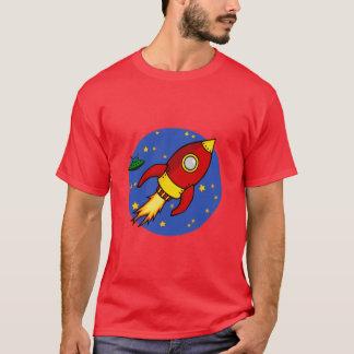 Camiseta para hombre amarilla roja de Rocket