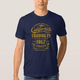 Camiseta para hombre americana del vintage playeras