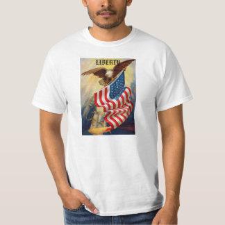 Camiseta para hombre con Eagle que defiende Camisas