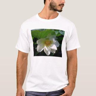 Camiseta para hombre con la flor de Lotus blanco
