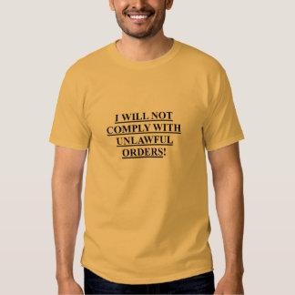Camiseta para hombre con MÍ NO CUMPLIR/USUPERS SEA Remera