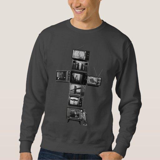 Camiseta para hombre cruzada de las televisiones sudaderas