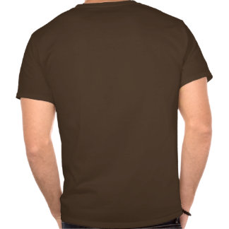Camiseta para hombre de Brown de la hamburguesa
