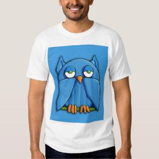 Camiseta para hombre de la aguamarina del búho de remeras