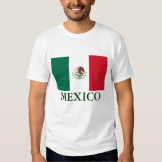 Camiseta para hombre de la bandera de México Camisas