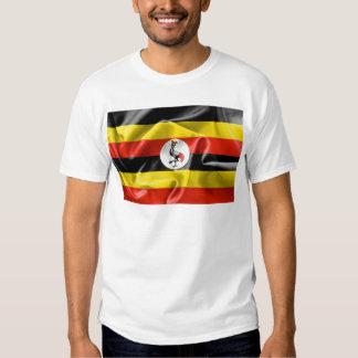 Camiseta para hombre de la bandera de Uganda Playeras