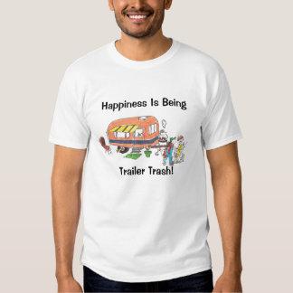 Camiseta para hombre de la basura del remolque de camisas