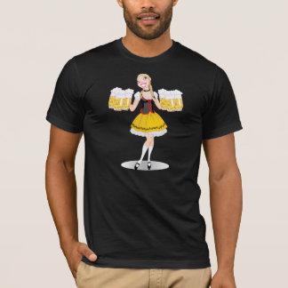 Camiseta para hombre de la cerveza de la porción