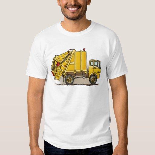 Camiseta para hombre de la construcción del camión playeras