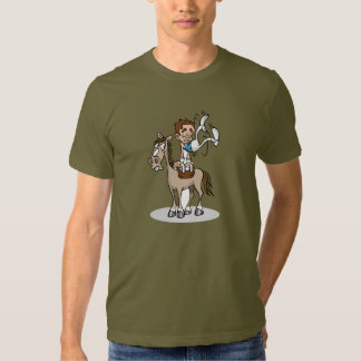 Camiseta para hombre de la gimnasia del caballo de playeras