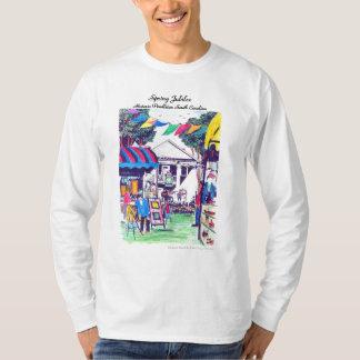 Camiseta para hombre de la manga larga del jubileo playeras