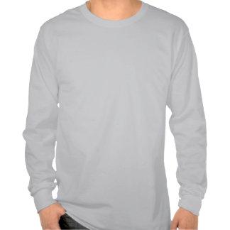 camiseta para hombre de la manga larga del oso de