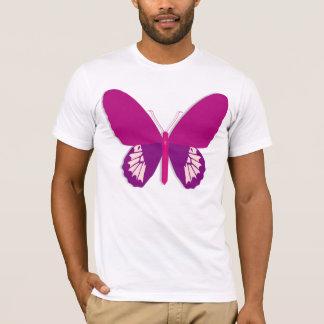 Camiseta para hombre de la mariposa rosada