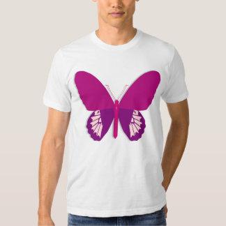 Camiseta para hombre de la mariposa rosada remera