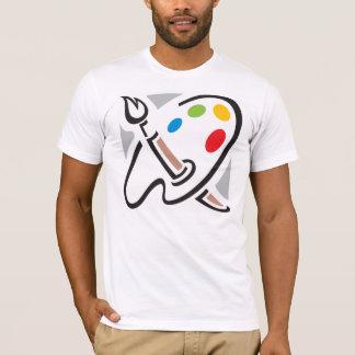 Camiseta para hombre de la paleta de los pintores