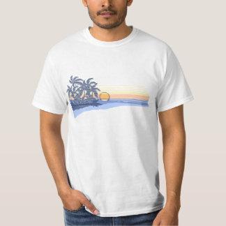 Camiseta para hombre de la puesta del sol grande playeras