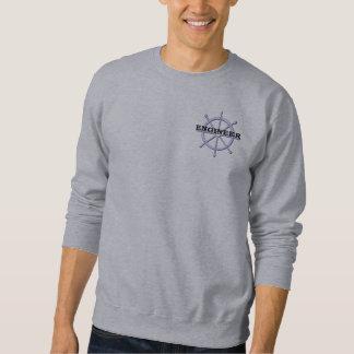 Camiseta para hombre de la rueda de la nave del sudadera con capucha