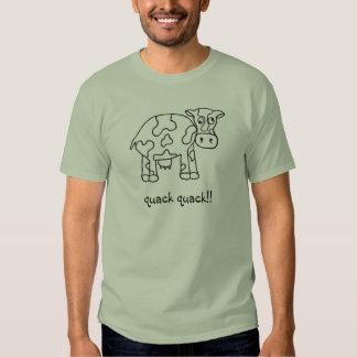 Camiseta para hombre de la vaca loca playeras