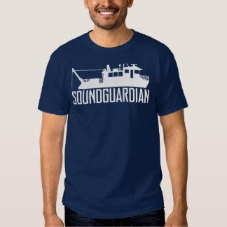 Camiseta para hombre de los azules marinos del playeras
