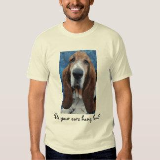 Camiseta para hombre de los oídos de Basset Hound Polera