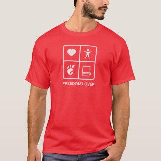 Camiseta para hombre del amante de la libertad del