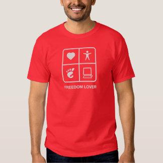 Camiseta para hombre del amante de la libertad del polera