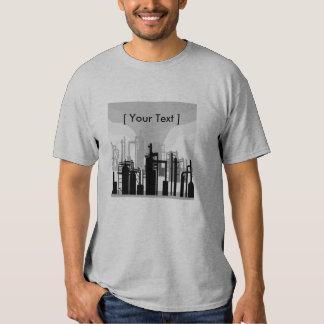 Camiseta para hombre del ambiente de la refinería poleras