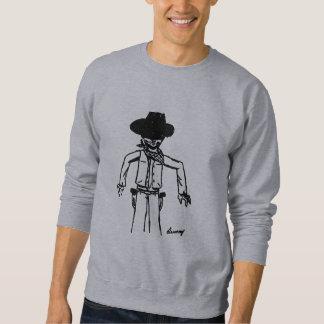 Camiseta para hombre del bosquejo del vaquero suéter